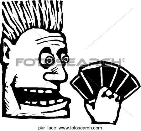 Clipart of Poker Face pkr_face.