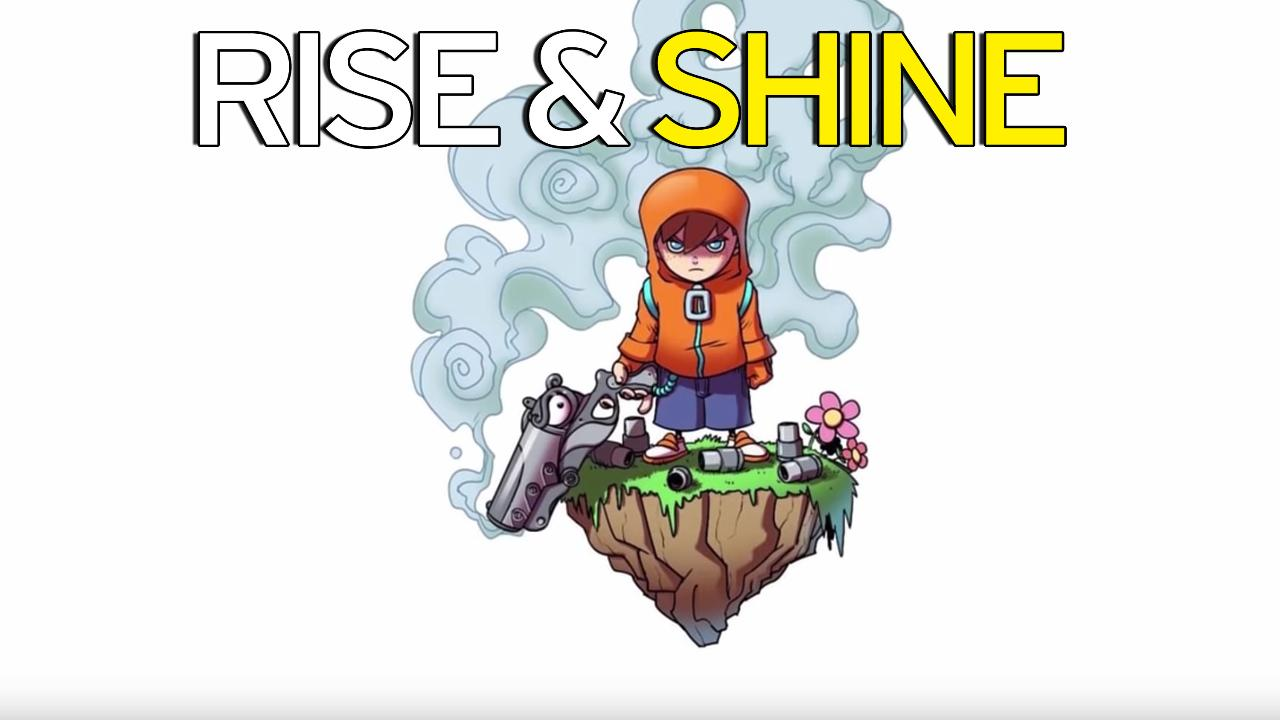 Rise and Shine review: Poking fun at video games with the barrel.