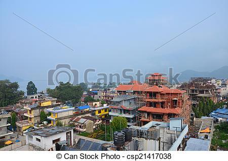 Stock Photos of Cityscape of Pokhara.