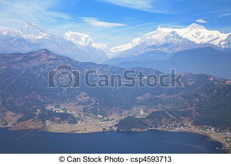 Stock Photos of Pokhara, Nepal.