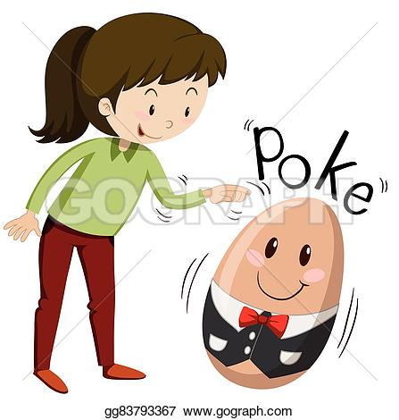Poking clipart #15