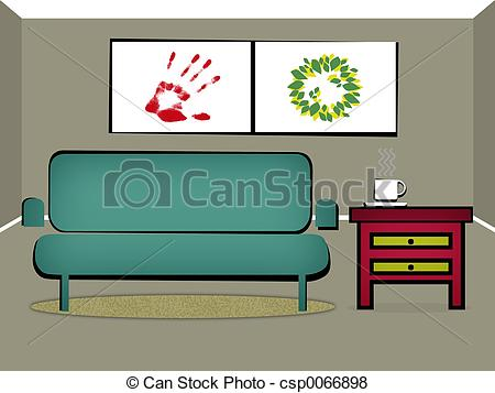 Stock Illustration of Living Room Clipart csp0066898.