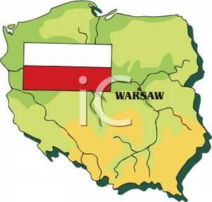 With Polish Flag.