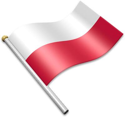 Flag Icons of Poland.