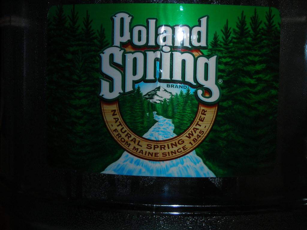 Poland Spring logo.