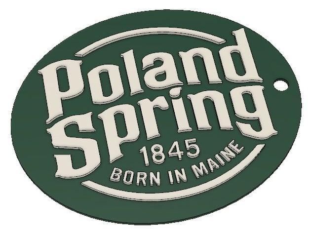 Poland Spring Keychain by nicocazza.