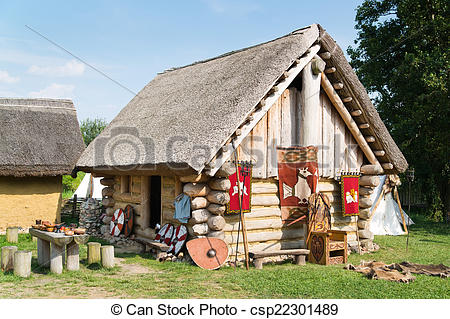 Pictures of Old slavic village in Poland csp22301489.