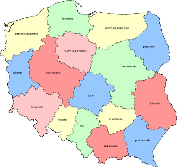 Poland Provinces Clip Art at Clker.com.
