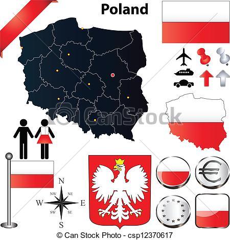 Poland map Vector Clip Art EPS Images. 1,049 Poland map clipart.