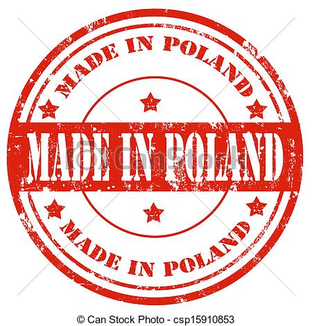 Clipart Vector of Made in Poland.