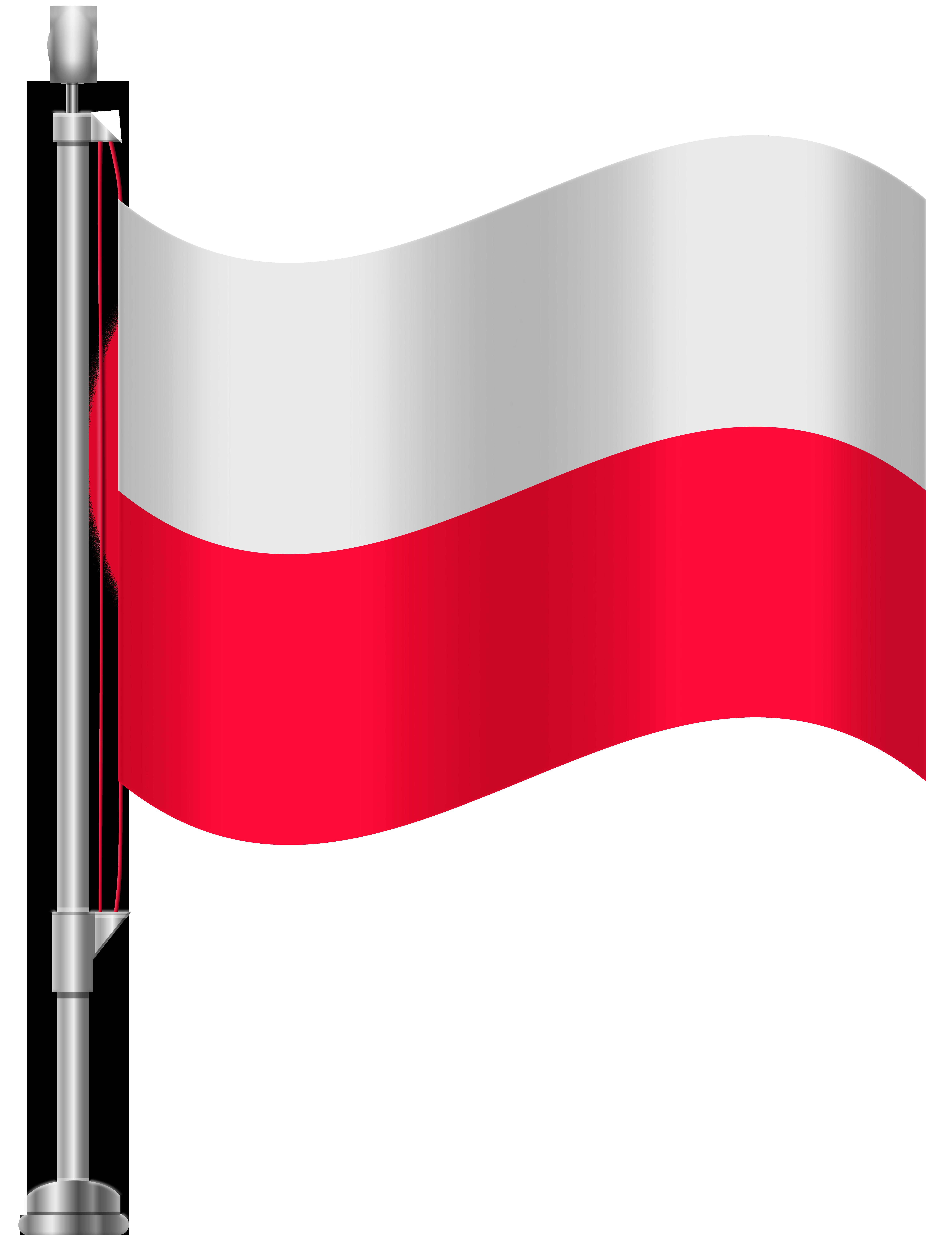 Poland Flag PNG Clip Art.