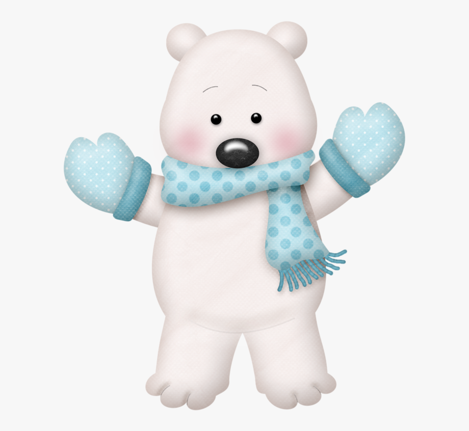 Clipart Christmas Polar Bear.