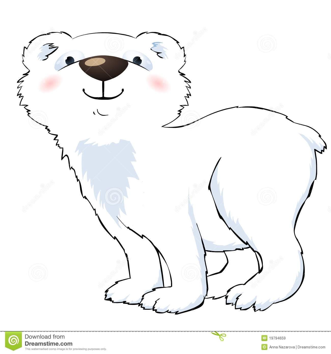Showing post & media for Cartoon polar bear clip art.