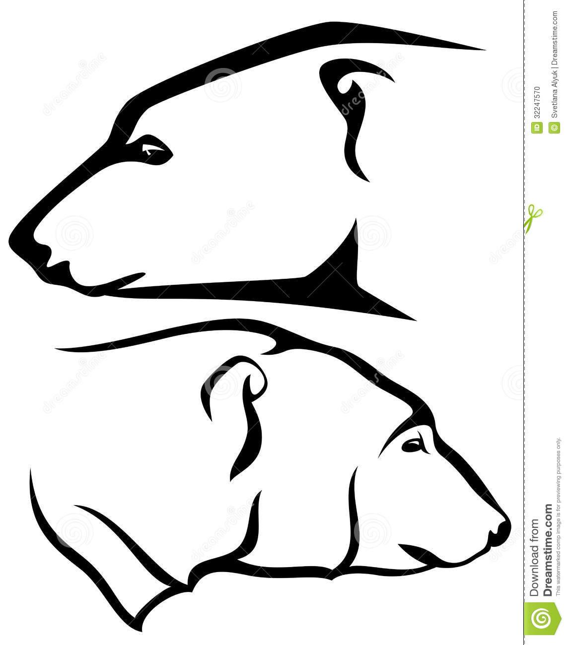 Polar Bear Clip Art Black And White.