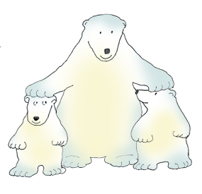 Polar bear clip art pictures of polar bears.