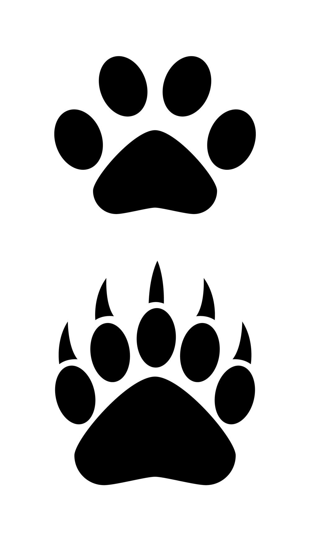Polar Bear Paw Print.