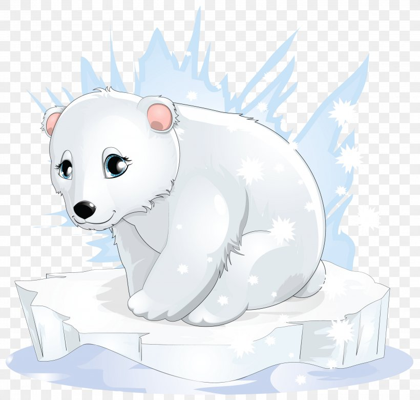 Polar Bear Cartoon Clip Art, PNG, 2987x2843px, Polar Bear.