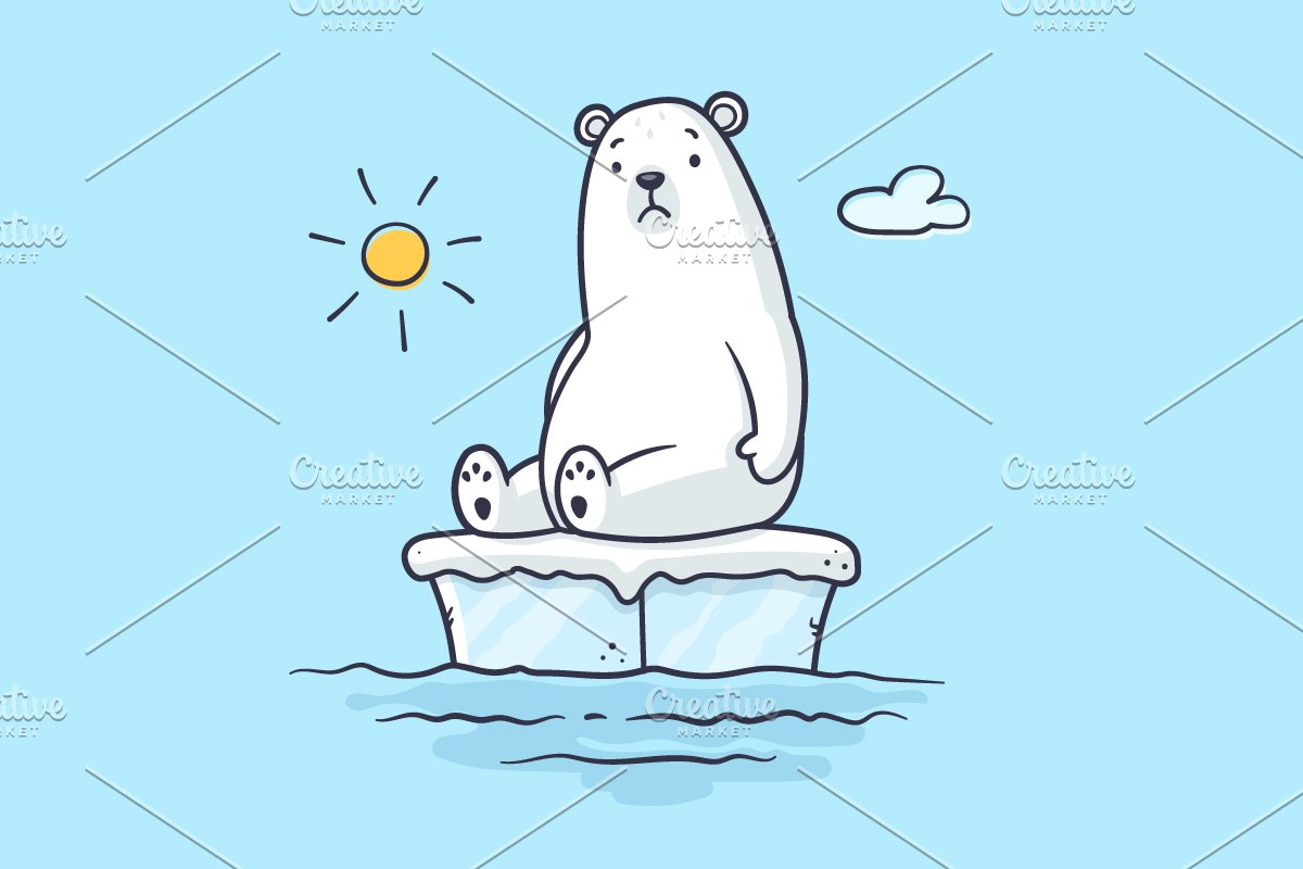 Global Warming Polar Bear.