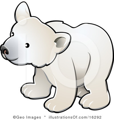 Polar Bear Face Clipart.