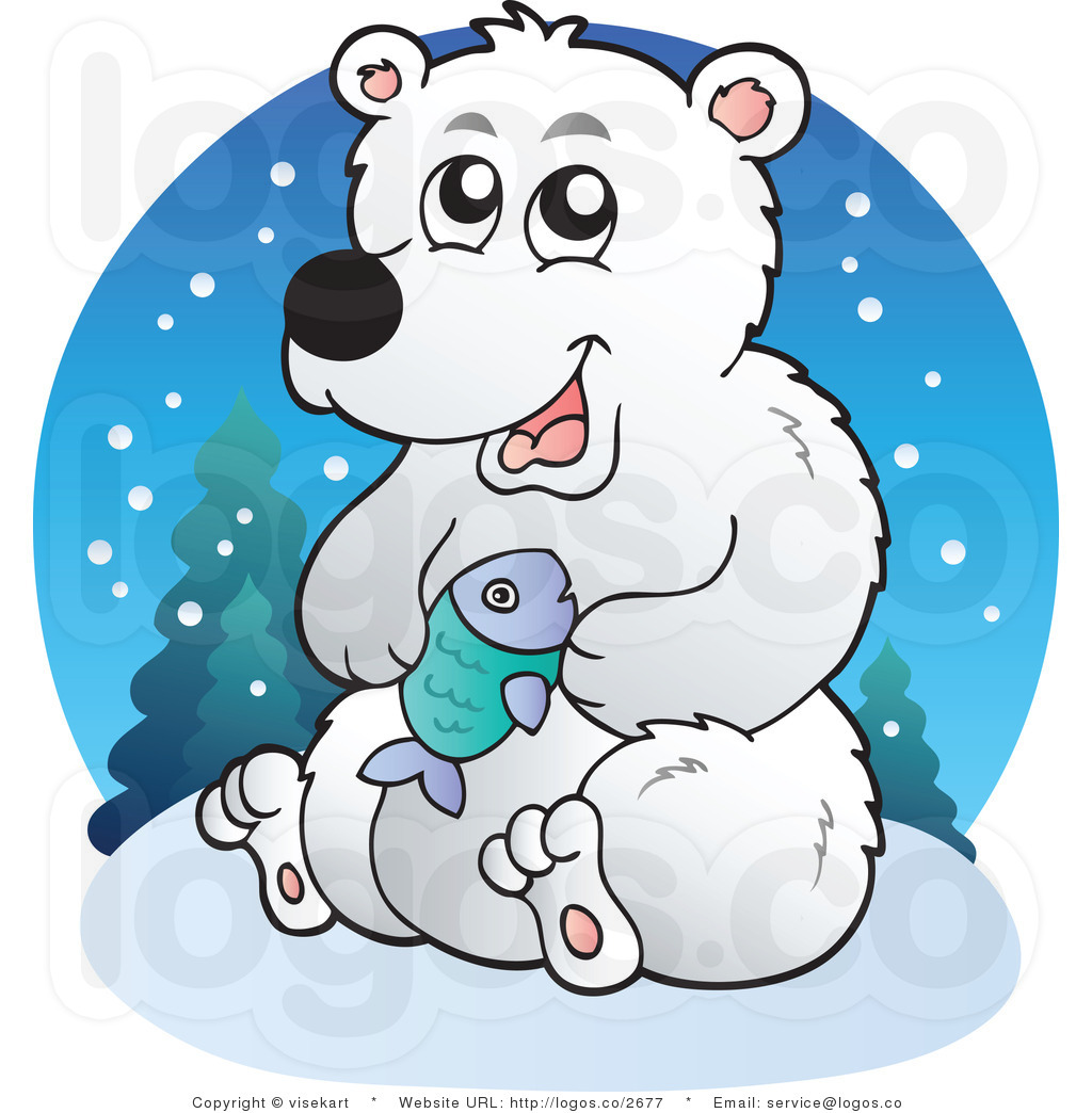 Polar Bear Clip Art Black And White.