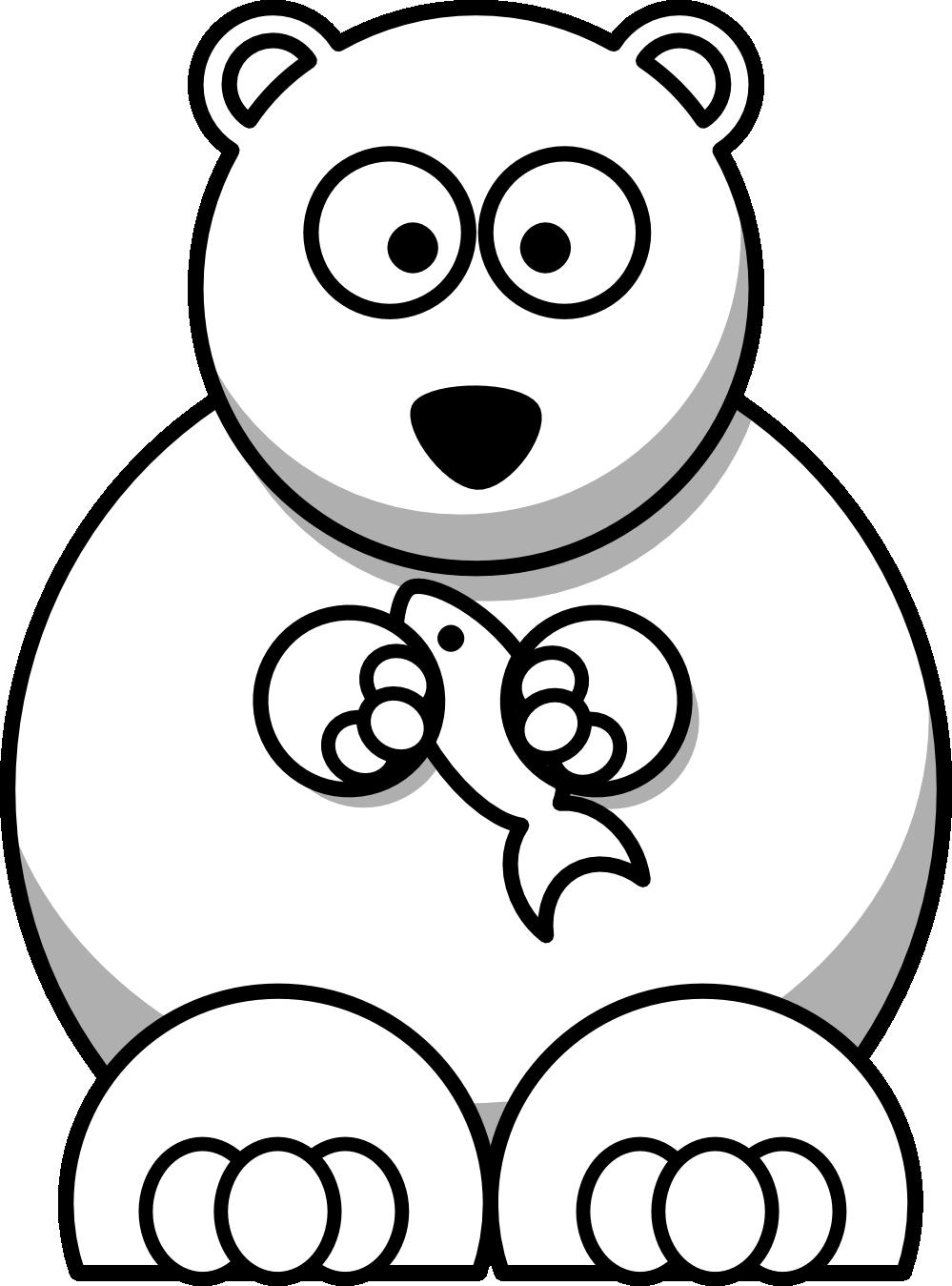 Polar Bear Clipart Black And White.