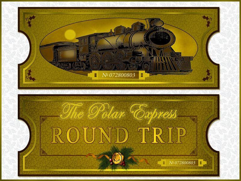 Polar Express Ticket Clipart #1.