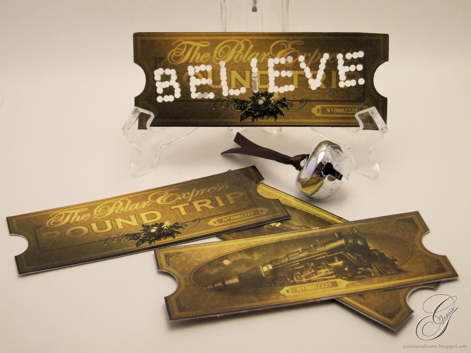 Jamie\'s Craft Room: BELIEVE Polar Express Tickets.
