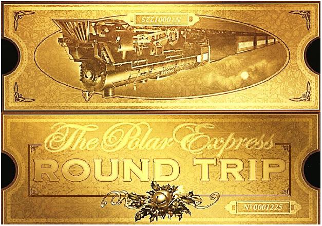 Polar Express FREE printable ticket.