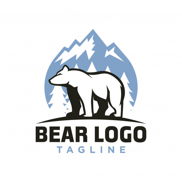 Polar bear logo Vector.