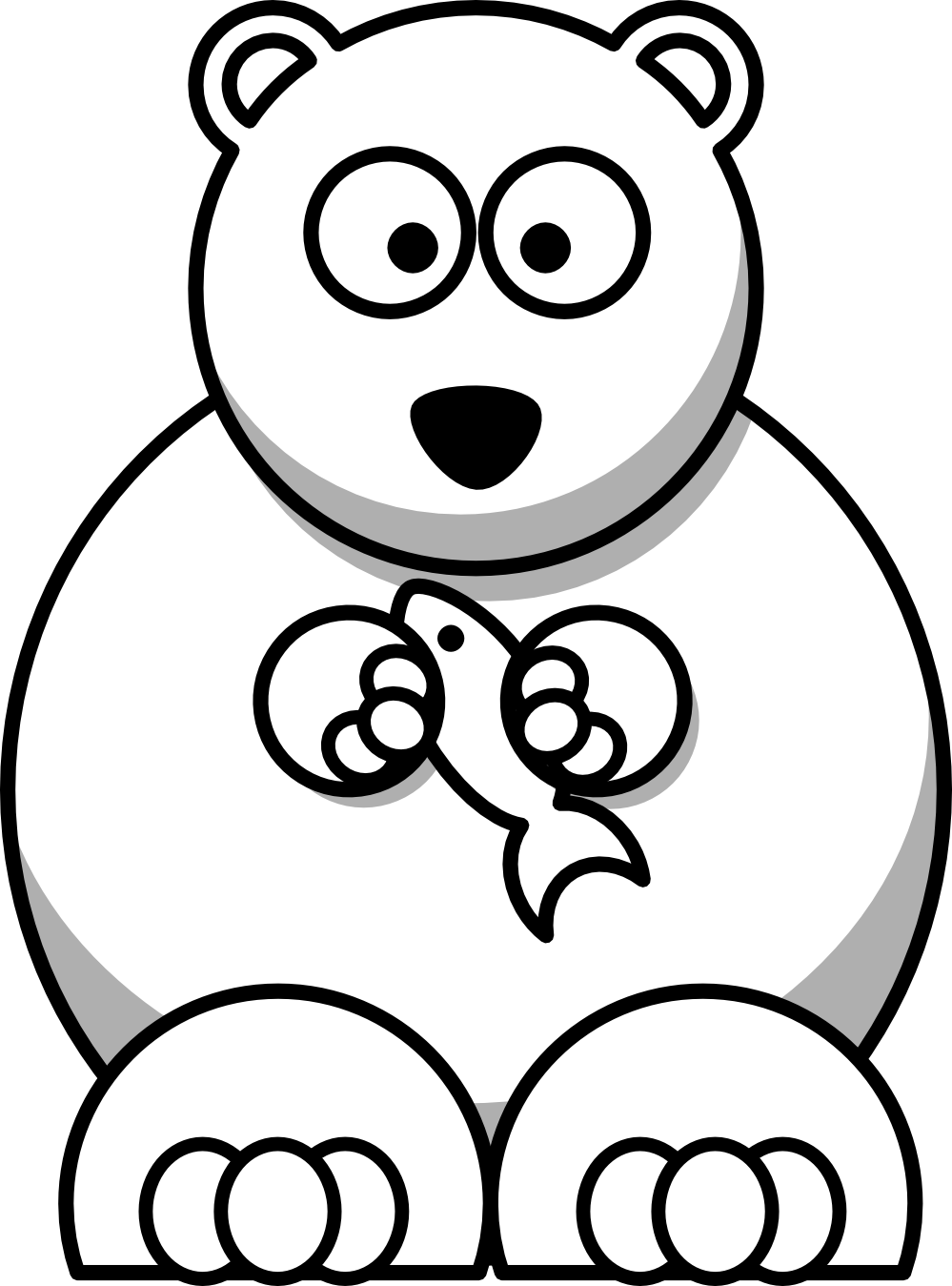 Showing post & media for Cartoon polar bear eating clip art.