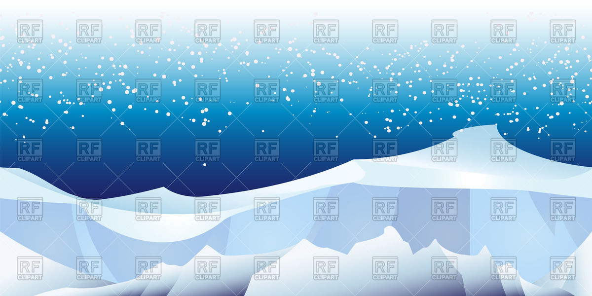 Seamless pattern with arctic glacier landscape Vector Image #44184.