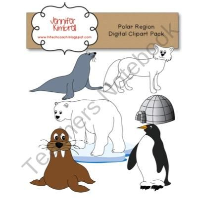 Polar Region Clipart/Graphics Pack product from The.