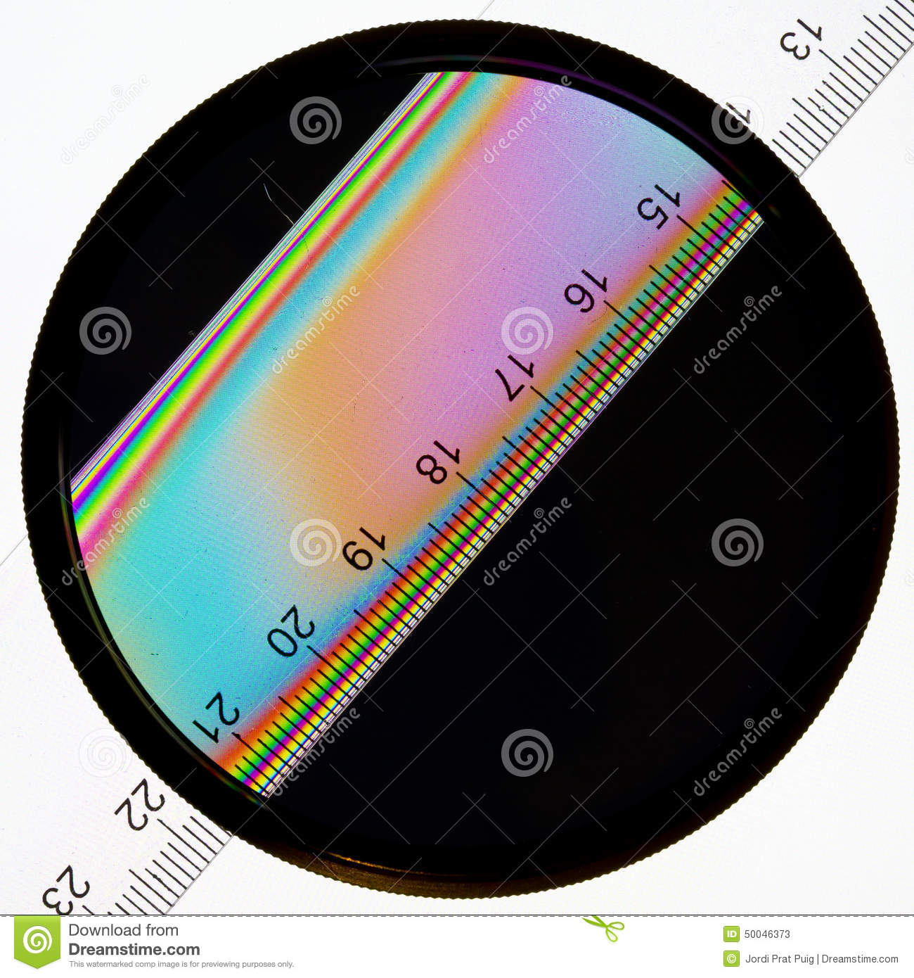 Circular Polarizer Filter Effect Stock Images.