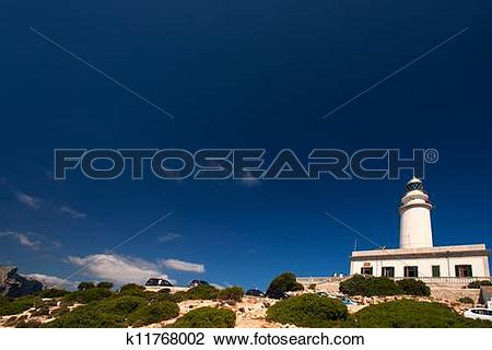 Stock Photo of Formentor Lighthouse in Mallorca polarising filter.