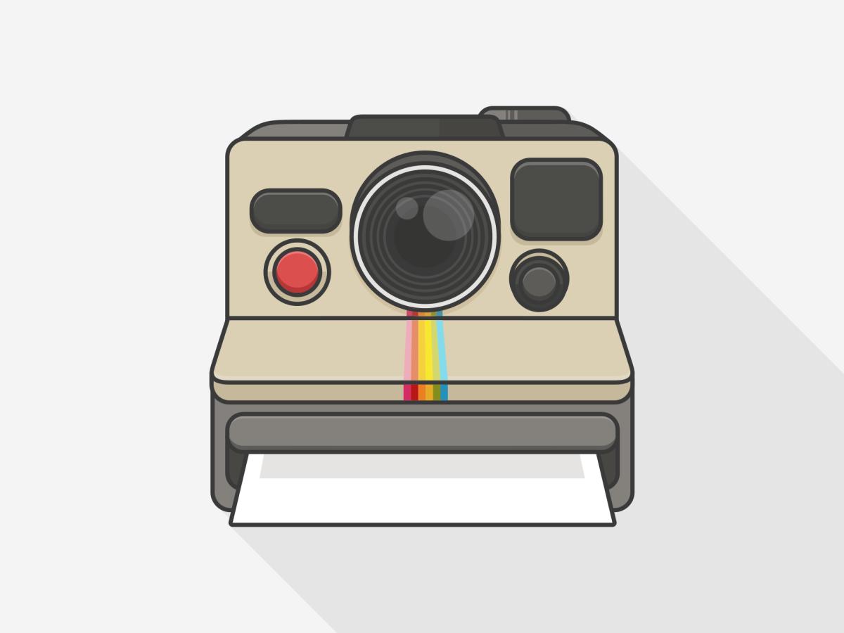 Polaroid Camera Drawing at PaintingValley.com.
