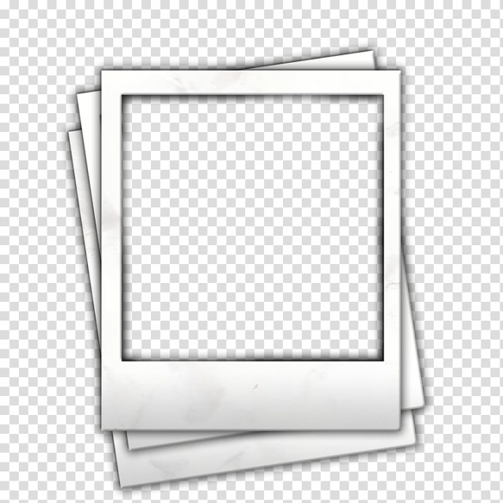 Paper illustration, Instant camera , polaroid frame.