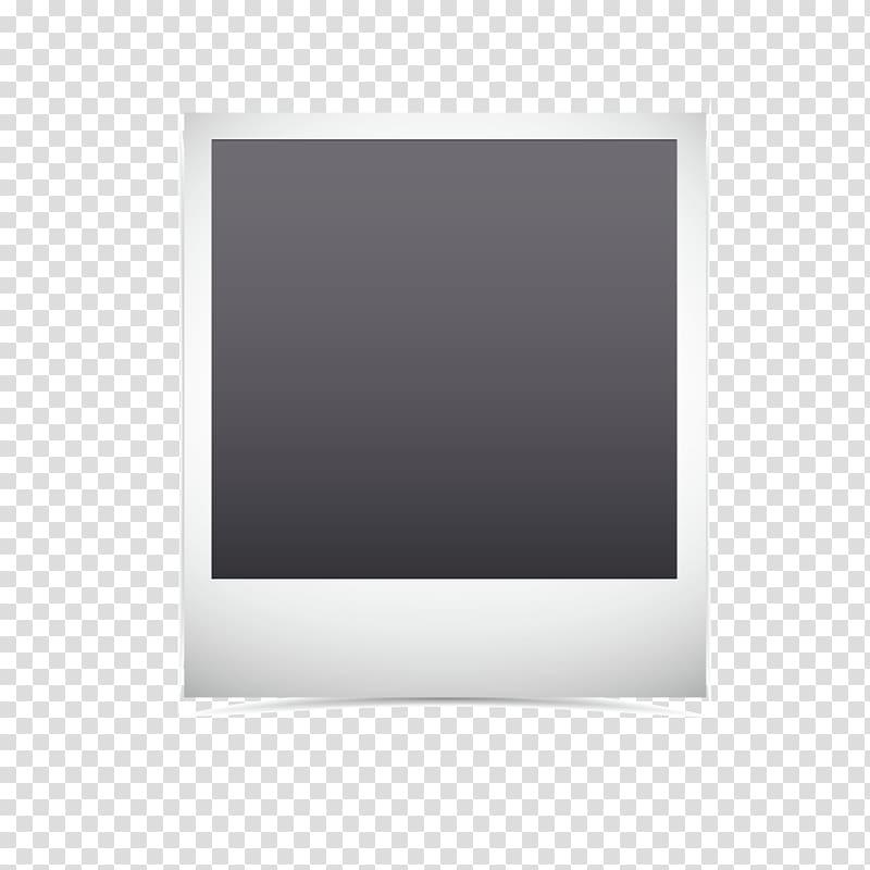 Frame Purple Pattern, Polaroid, black chalkboard transparent.