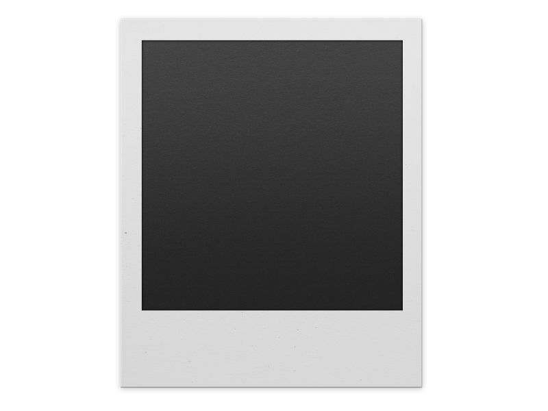 Polaroid Frame PNG For Photoshop.
