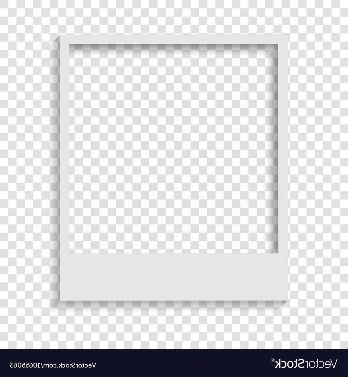 Blank Transparent Paper Polaroid Photo Frame Vector.
