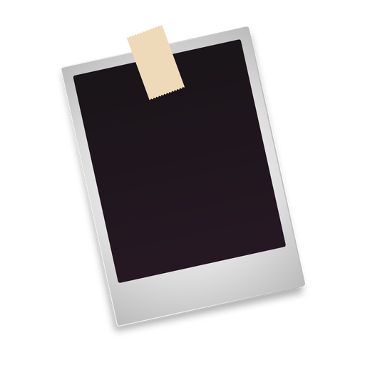 Blank polaroid photo icon.