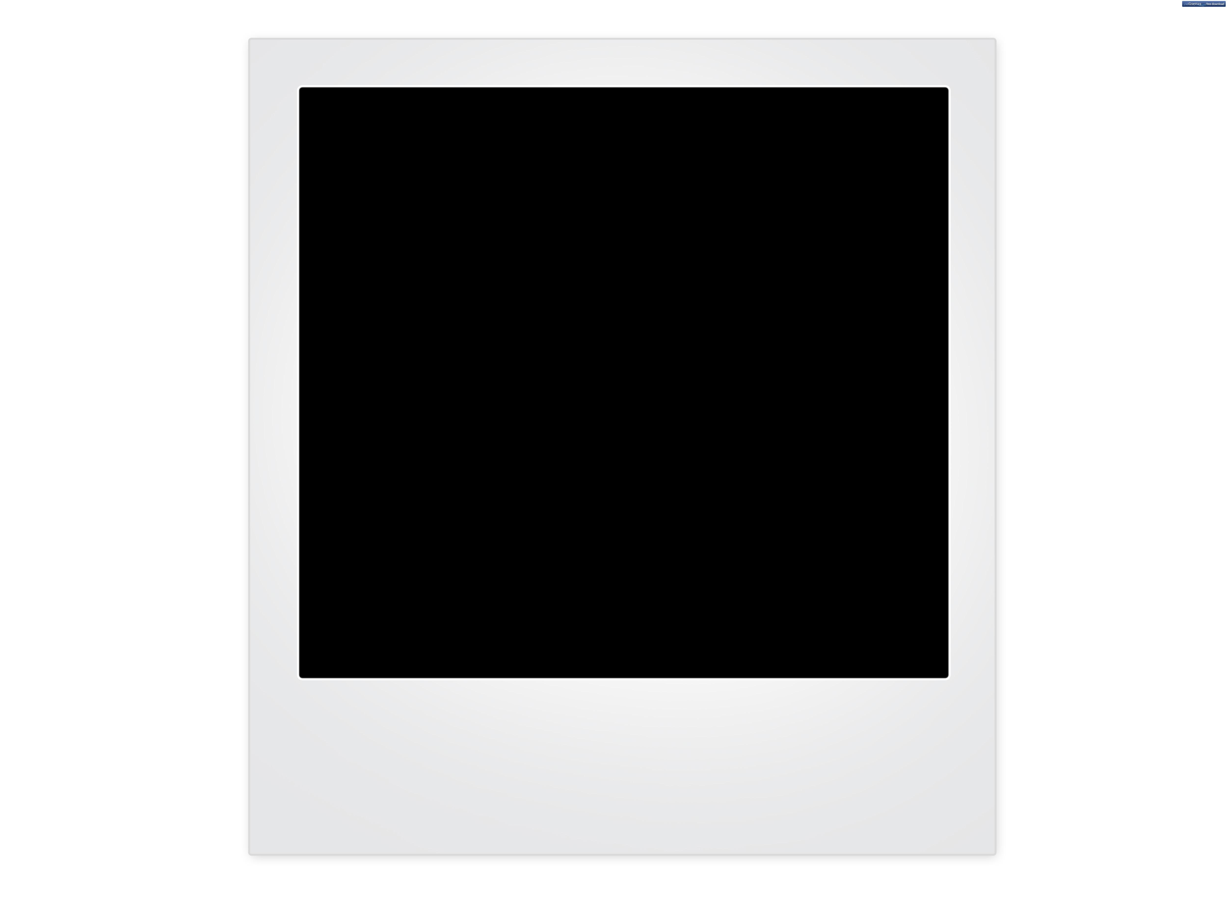 Blank polaroid frame background.