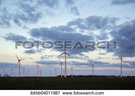 "Picture of ""Wind park Wybelsumer Polder, Emden, East Frisia, Lower."