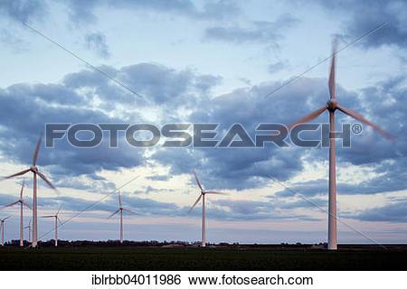 "Stock Images of ""Wind park Wybelsumer Polder, Emden, East Frisia."