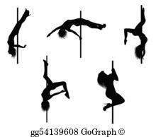 Pole Dance Clip Art.