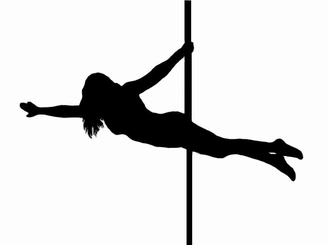 Pole Dance Silhouette.