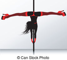 Pole dance Stock Illustrations. 781 Pole dance clip art images and.