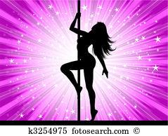 Pole dance Clip Art EPS Images. 454 pole dance clipart vector.