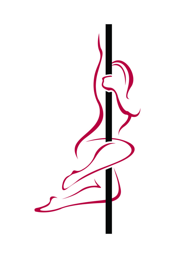 Pole Dance Silhouette.