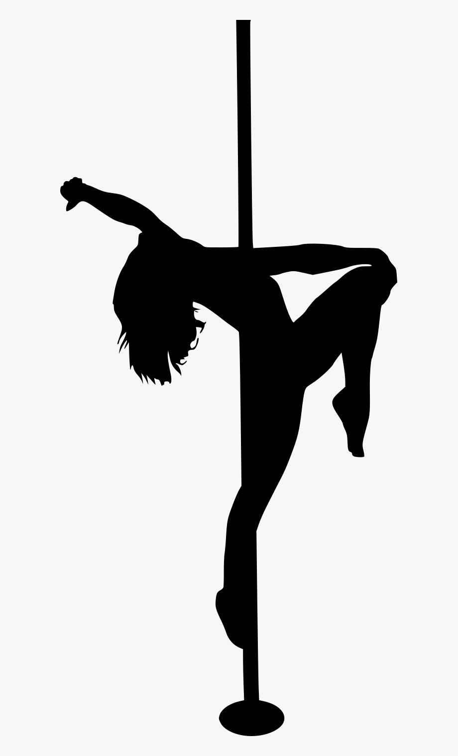 Pole Dancing Silhouette.