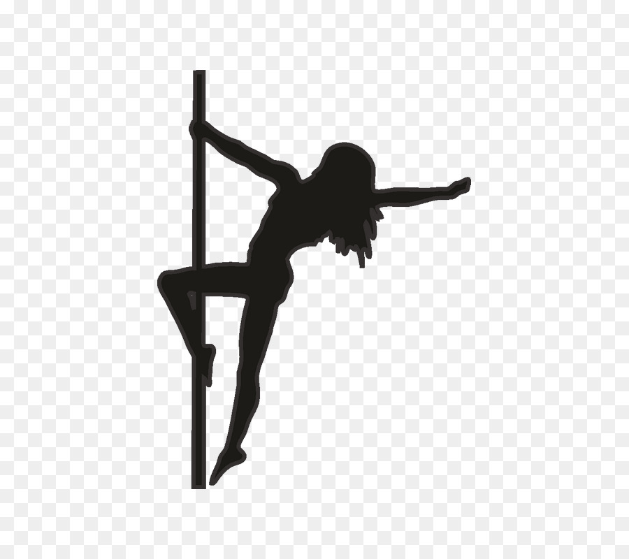 Pole dance Silhouette Vector graphics.